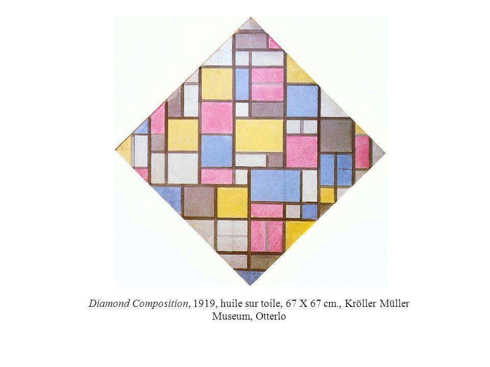Diamond Composition, 1919, huile sur toile, 67 X 67 cm., Kröller Müller Museum, Otterlo