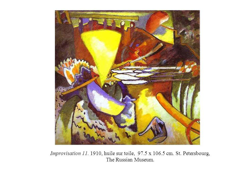 Improvisation 11. 1910, huile sur toile, 97.5 x 106.5 cm. St. Petersbourg, The Russian Museum.