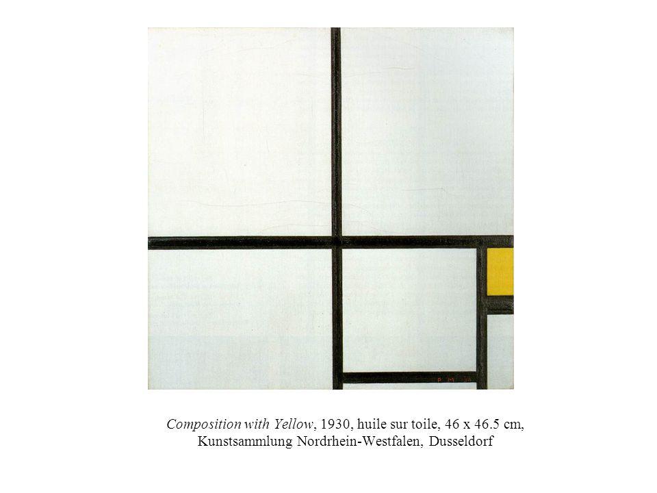 Composition with Yellow, 1930, huile sur toile, 46 x 46.5 cm, Kunstsammlung Nordrhein-Westfalen, Dusseldorf
