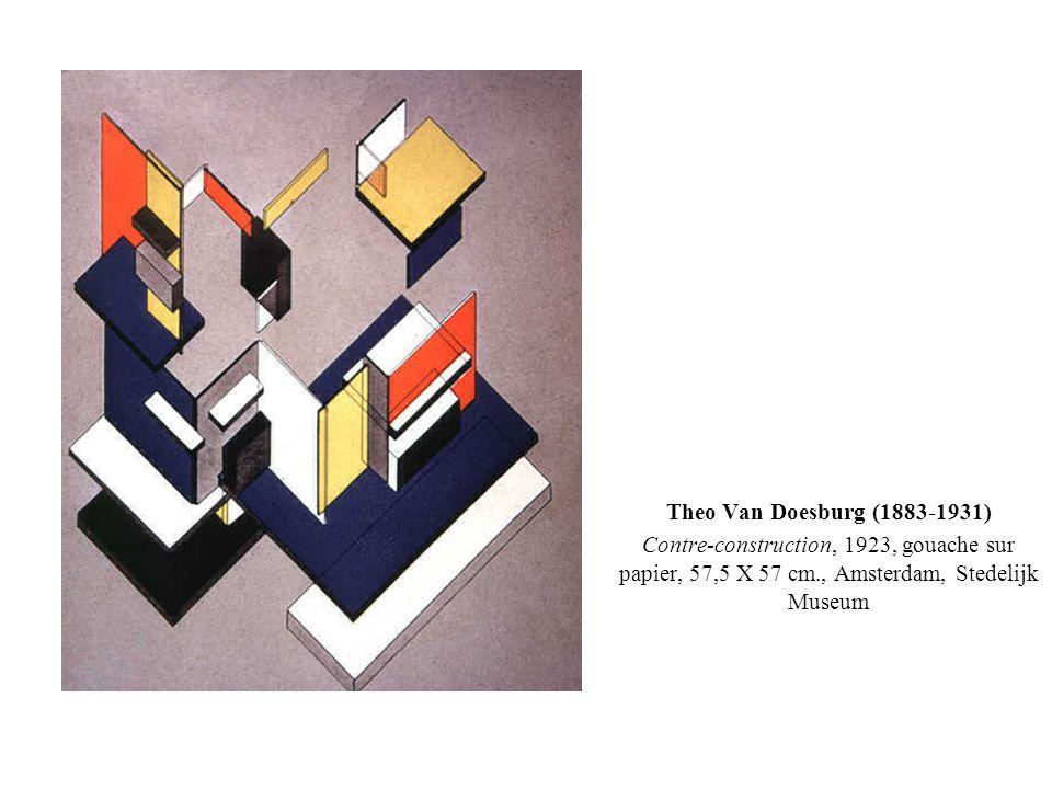 Theo Van Doesburg (1883-1931) Contre-construction, 1923, gouache sur papier, 57,5 X 57 cm., Amsterdam, Stedelijk Museum