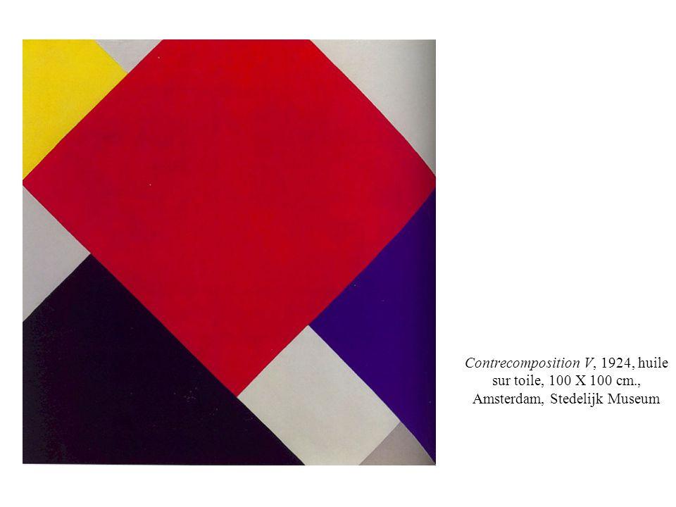 Contrecomposition V, 1924, huile sur toile, 100 X 100 cm., Amsterdam, Stedelijk Museum