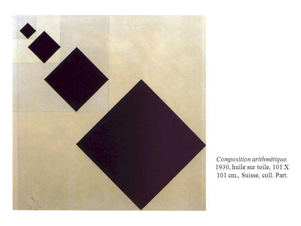 Composition arithmétique, 1930, huile sur toile, 101 X 101 cm., Suisse, coll. Part.