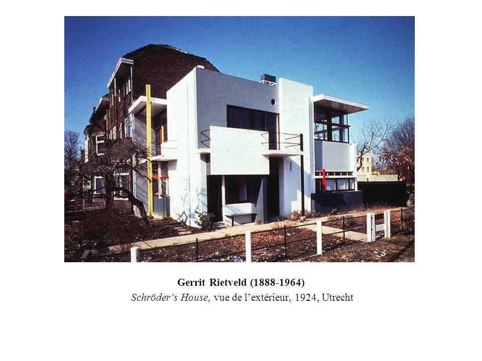 Gerrit Rietveld (1888-1964) Schröders House, vue de lextérieur, 1924, Utrecht