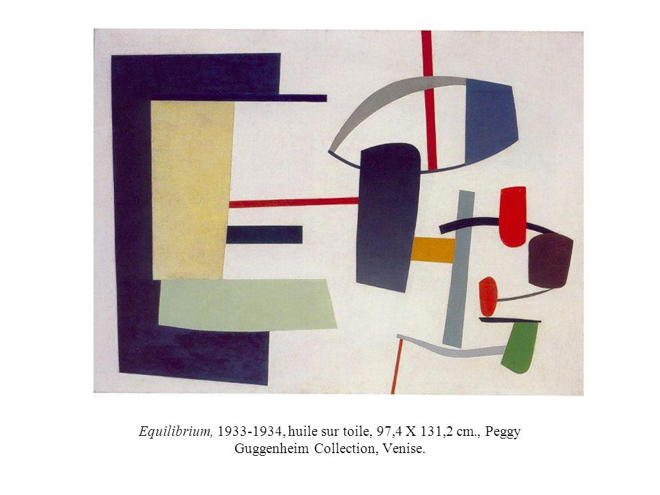 Equilibrium, 1933-1934, huile sur toile, 97,4 X 131,2 cm., Peggy Guggenheim Collection, Venise.