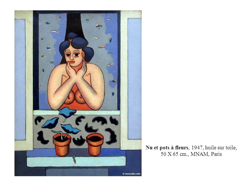Nu et pots à fleurs, 1947, huile sur toile, 50 X 65 cm., MNAM, Paris