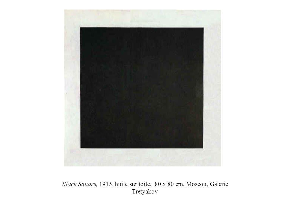 Black Square, 1915, huile sur toile, 80 x 80 cm. Moscou, Galerie Tretyakov