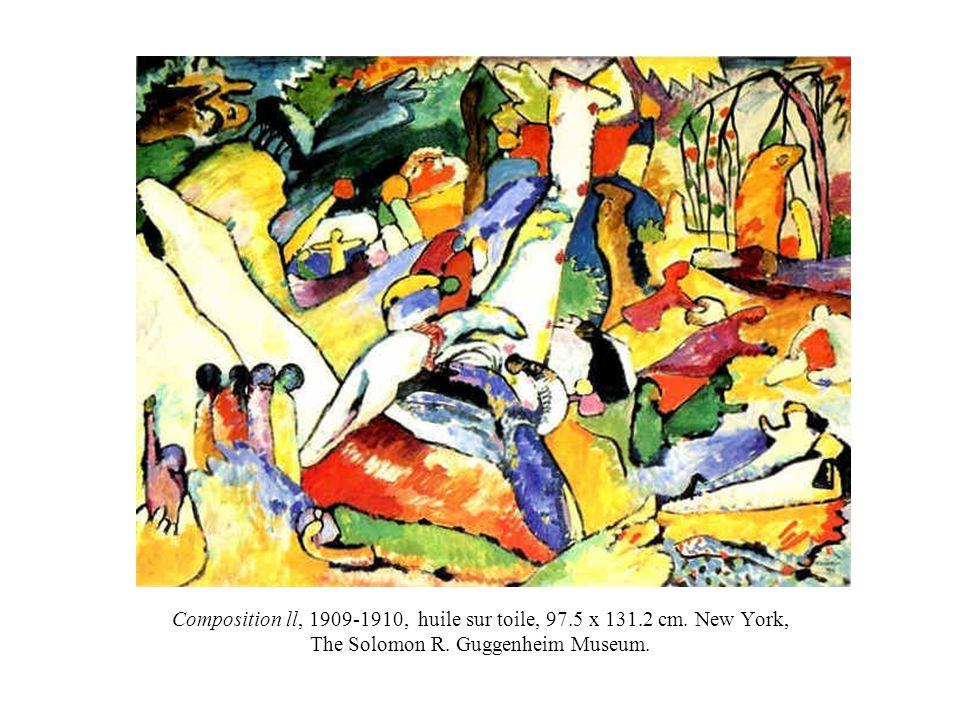 Composition ll, 1909-1910, huile sur toile, 97.5 x 131.2 cm.