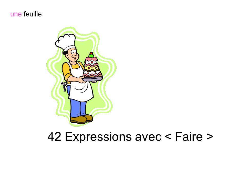42 Expressions avec une feuille
