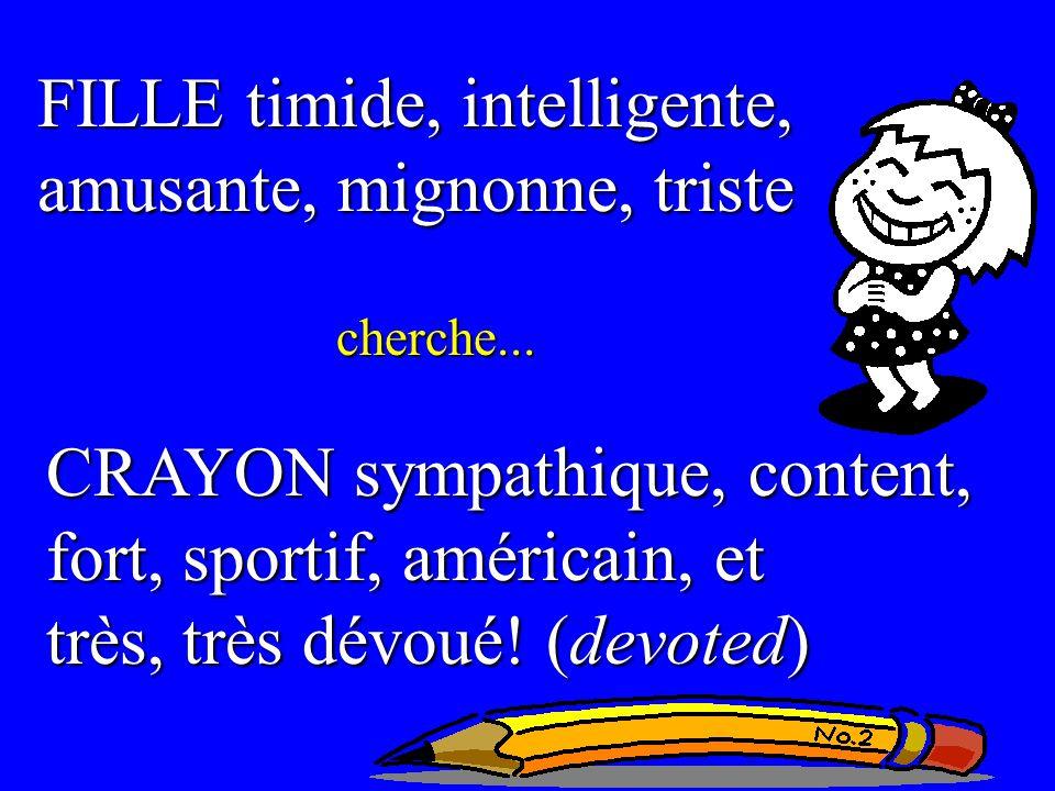 FILLE timide, intelligente, amusante, mignonne, triste cherche...