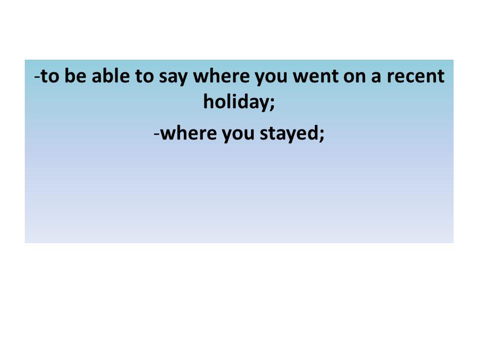 Où as-tu logé? (Where did you stay?) dans un hôtel