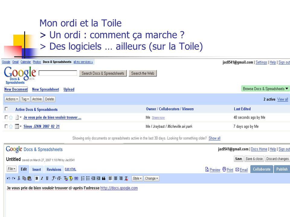 http://www.aiace-luxembourg.eu29 Mon ordi et la Toile > Un ordi : comment ça marche .
