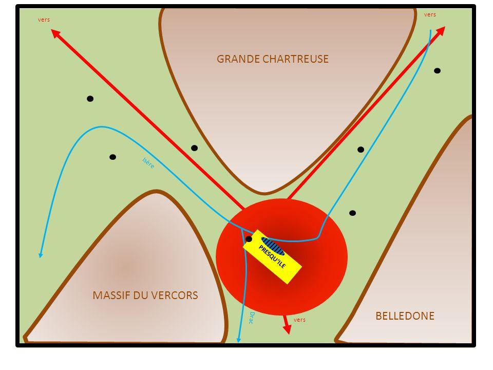 Isère Drac vers GRANDE CHARTREUSE MASSIF DU VERCORS BELLEDONE PRESQUILE