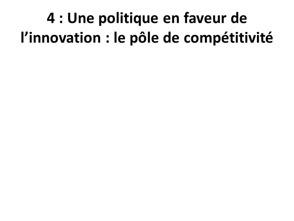 4 : Une politique en faveur de linnovation : le pôle de compétitivité
