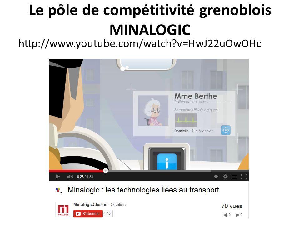 Le pôle de compétitivité grenoblois MINALOGIC http://www.youtube.com/watch?v=HwJ22uOwOHc