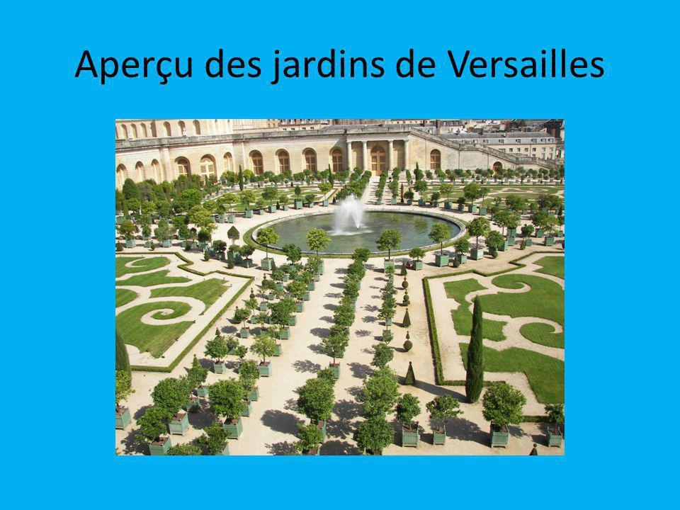 Aperçu des jardins de Versailles