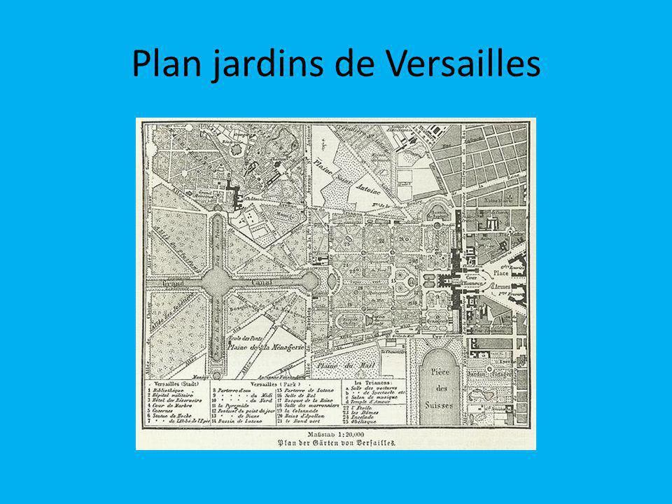 Plan jardins de Versailles