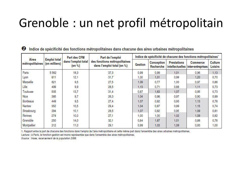 Grenoble : un net profil métropolitain