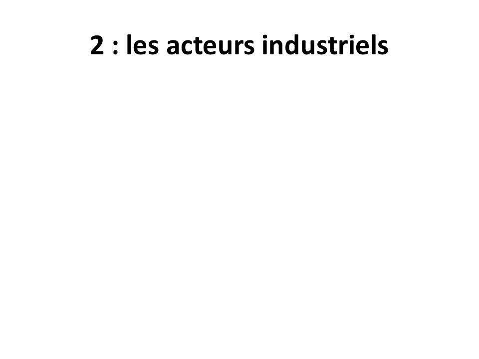 2 : les acteurs industriels