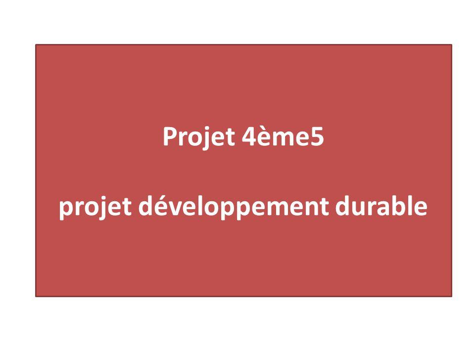 Projet 4ème5 projet développement durable