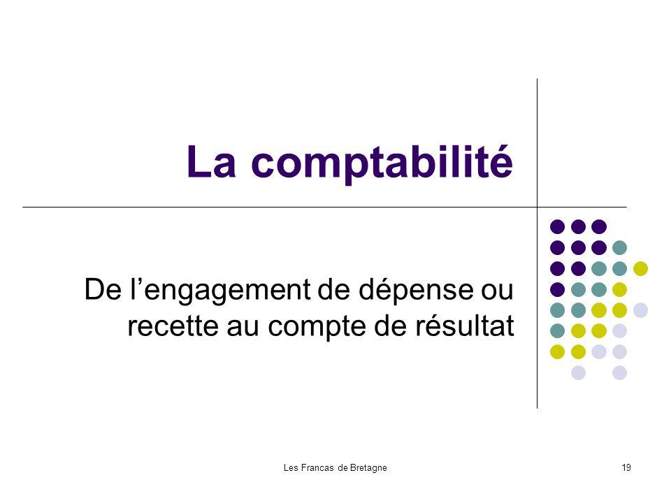 Les Francas de Bretagne19 La comptabilité De lengagement de dépense ou recette au compte de résultat
