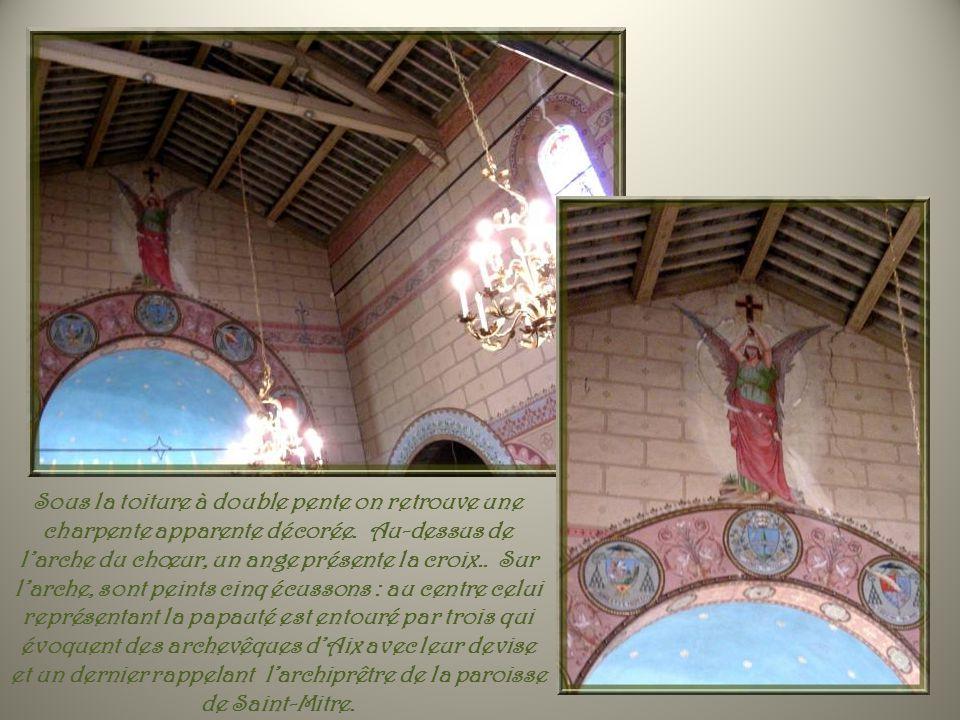 Plusieurs ex-voto témoignent de la foi que les Aixois vouaient à leur Saint. Ci-haut, une dalle qui se trouve à lentrée du chœur. A droite, celle-ci,