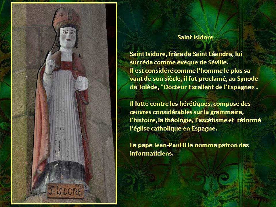 Saint Herbot Saint Herbot était le fils de nobles sei- gneurs de Grande-Bretagne. Il vint tôt en Armorique. Il choisit de rester au milieu des bois po