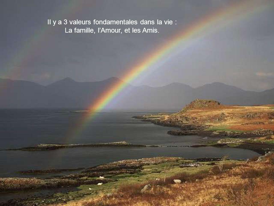 Il y a 3 valeurs fondamentales dans la vie : La famille, lAmour, et les Amis.