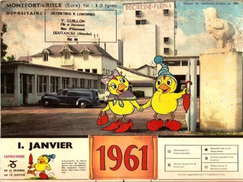 Calendrier édité par Duquesne -Purina était distribué aux clients par les revendeurs des produits Nous navons pas mis les mois qui sont imprimés derrière les planches.