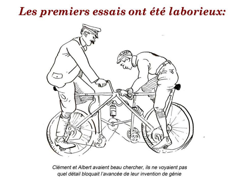 Très tôt, les hommes ont voulu faire un cycle à deux places,