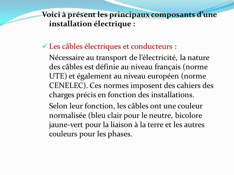 Les disjoncteurs Ils permettent la coupure automatique et instantané du courant lorsque ce dernier atteint la valeur limite déterminée lors de linstallation.