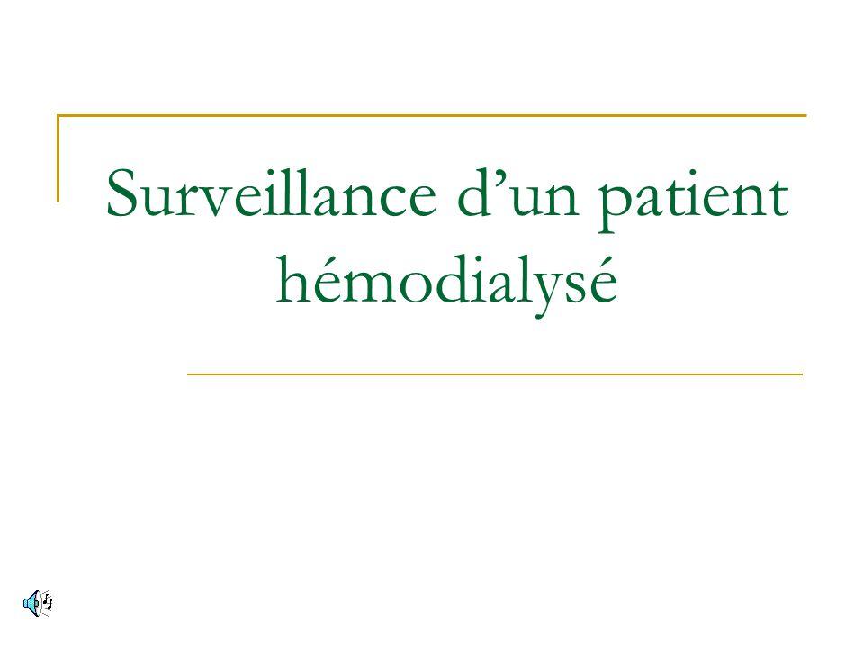 Surveillance dun patient hémodialysé