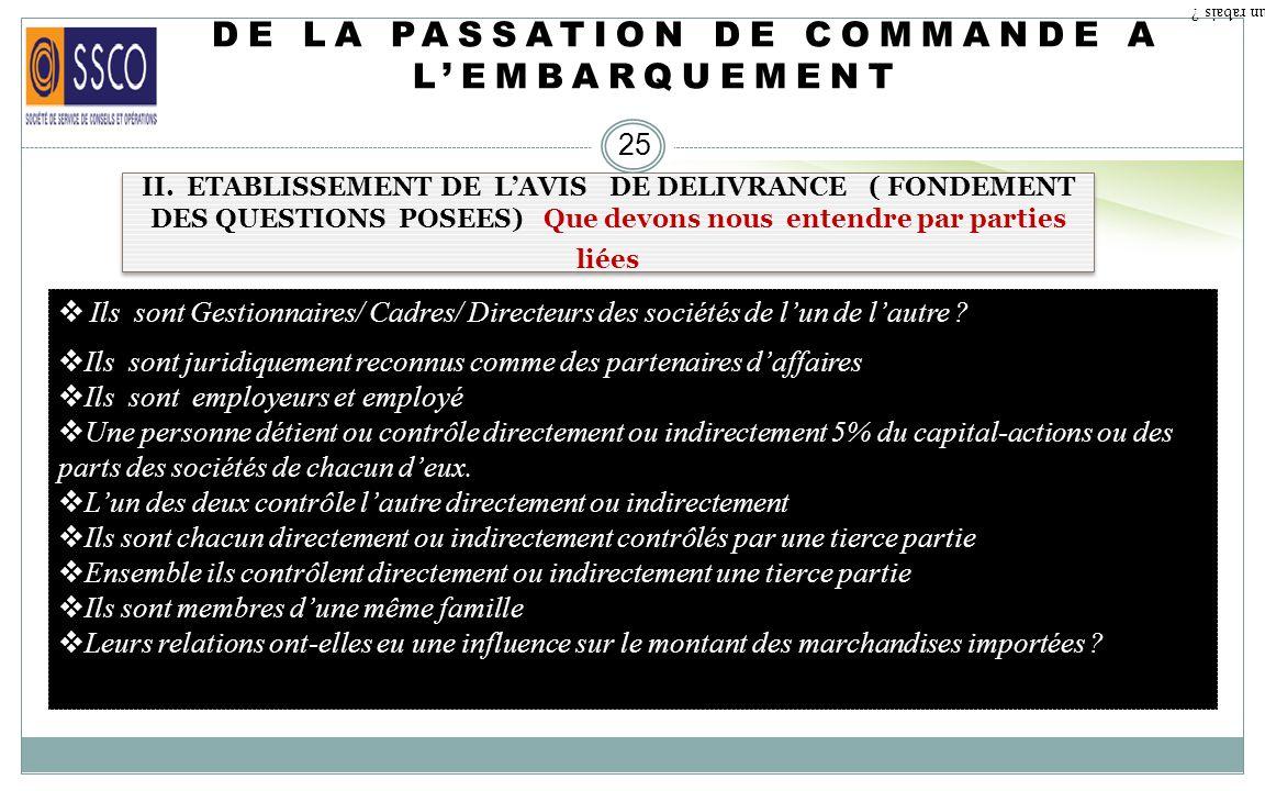 DE LA PASSATION DE COMMANDE A LEMBARQUEMENT 24 II. ETABLISSEMENT DE LAVIS DE DELIVRANCE ( FONDEMENT DES QUESTIONS POSEES). Qu est ce qu un rabais ? Ce
