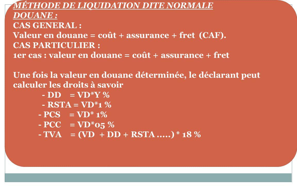 LA LIQUIDATION DES DROITS DE PORTES
