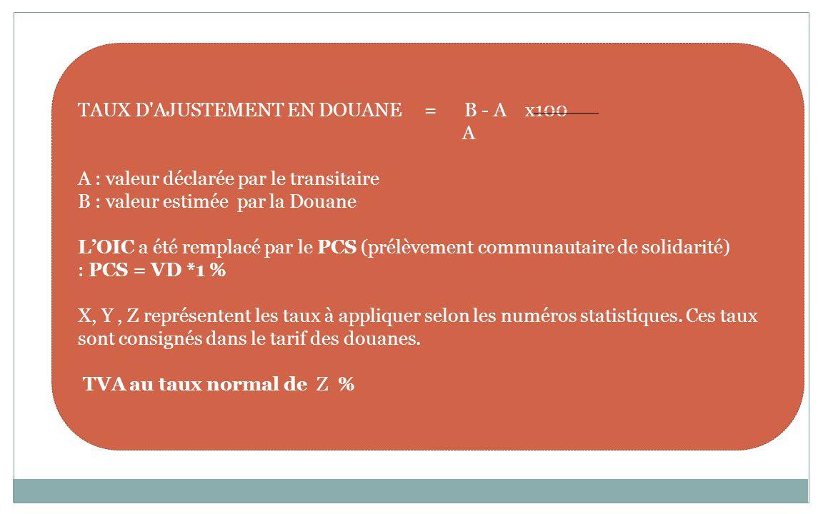 MÉTHODE DE LIQUIDATION DITE NORMALE DOUANE : CAS GENERAL : Valeur en douane = coût + assurance + fret (CAF). CAS PARTICULIER : 1er cas : valeur en dou