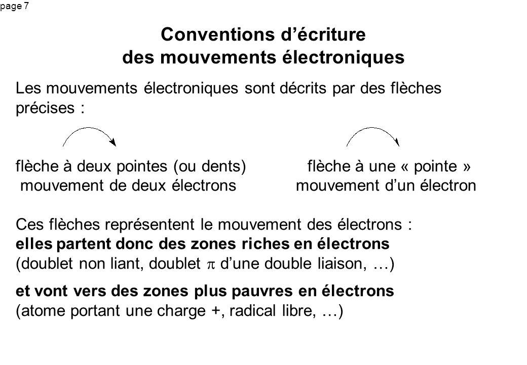 page 7 Conventions décriture des mouvements électroniques Les mouvements électroniques sont décrits par des flèches précises : flèche à deux pointes (