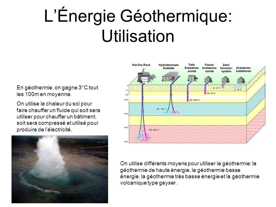 LÉnergie Géothermie: Chiffres de la Production Electrique Les 3 premiers pays producteurs de « géo- électricité » sont les Etats-Unis, les Philippines et lIndonésie.