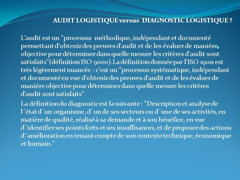 AUDIT LOGISTIQUE versus DIAGNOSTIC LOGISTIQUE ? L'audit est un