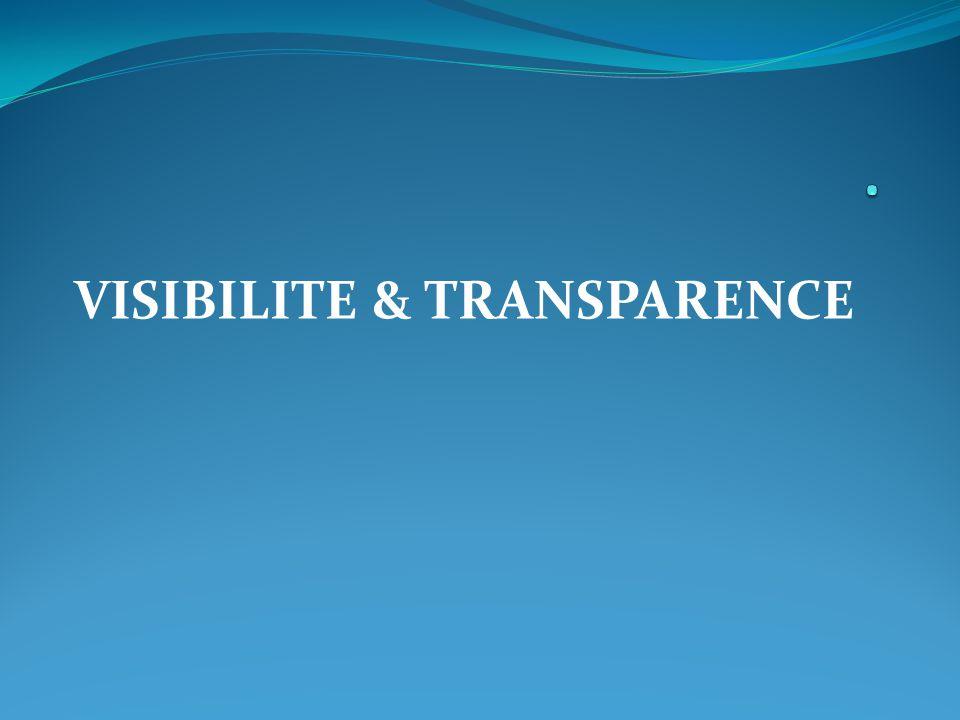 VISIBILITE & TRANSPARENCE