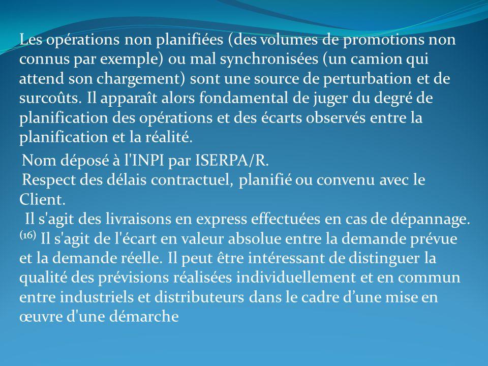 Les opérations non planifiées (des volumes de promotions non connus par exemple) ou mal synchronisées (un camion qui attend son chargement) sont une s