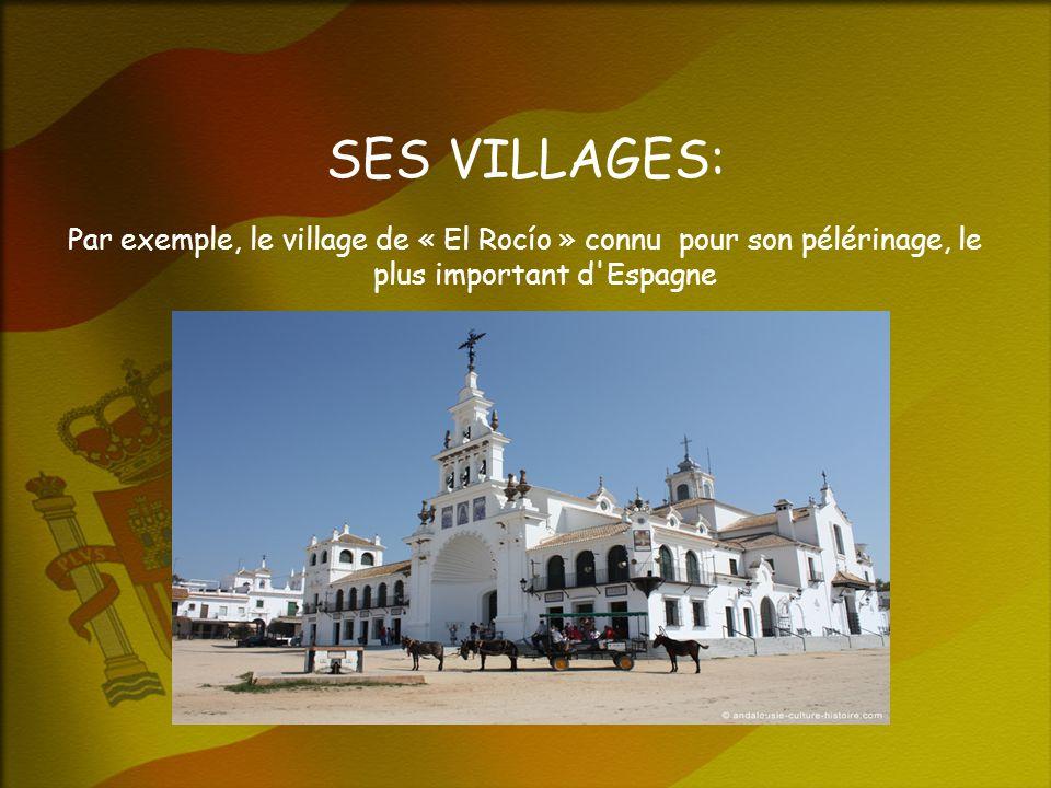 SES VILLAGES: Par exemple, le village de « El Rocío » connu pour son pélérinage, le plus important d Espagne