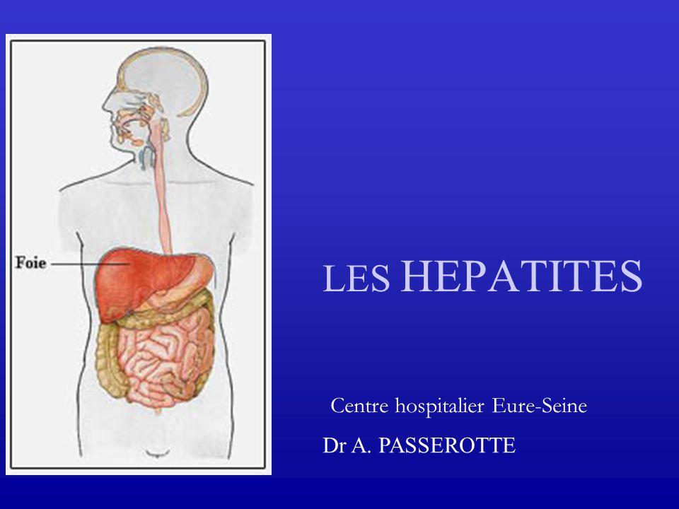 LES HEPATITES Centre hospitalier Eure-Seine Dr A. PASSEROTTE