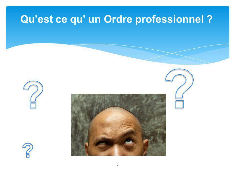 2 Quest ce qu un Ordre professionnel ?