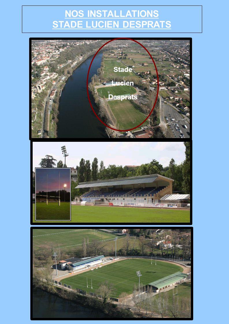 NOS INSTALLATIONS STADE LUCIEN DESPRATS Stade Lucien Desprats