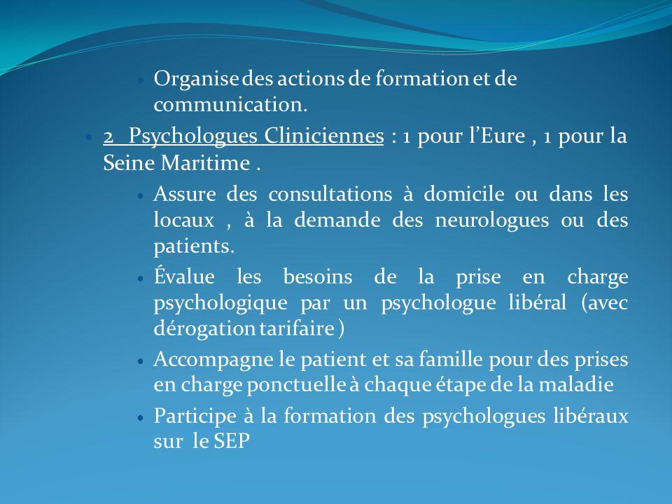 Organise des actions de formation et de communication.