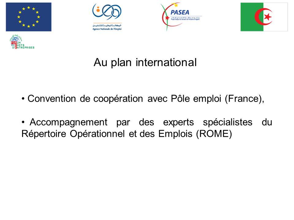 Au plan international Convention de coopération avec Pôle emploi (France), Accompagnement par des experts spécialistes du Répertoire Opérationnel et d