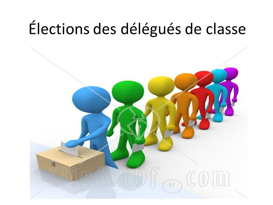 Qu est-ce que ces élections .Qu est-ce qu un délégué élève .
