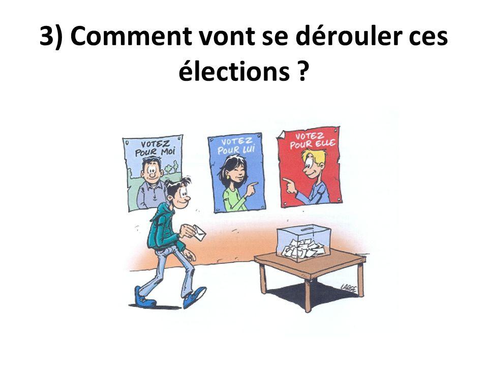 3) Comment vont se dérouler ces élections ?