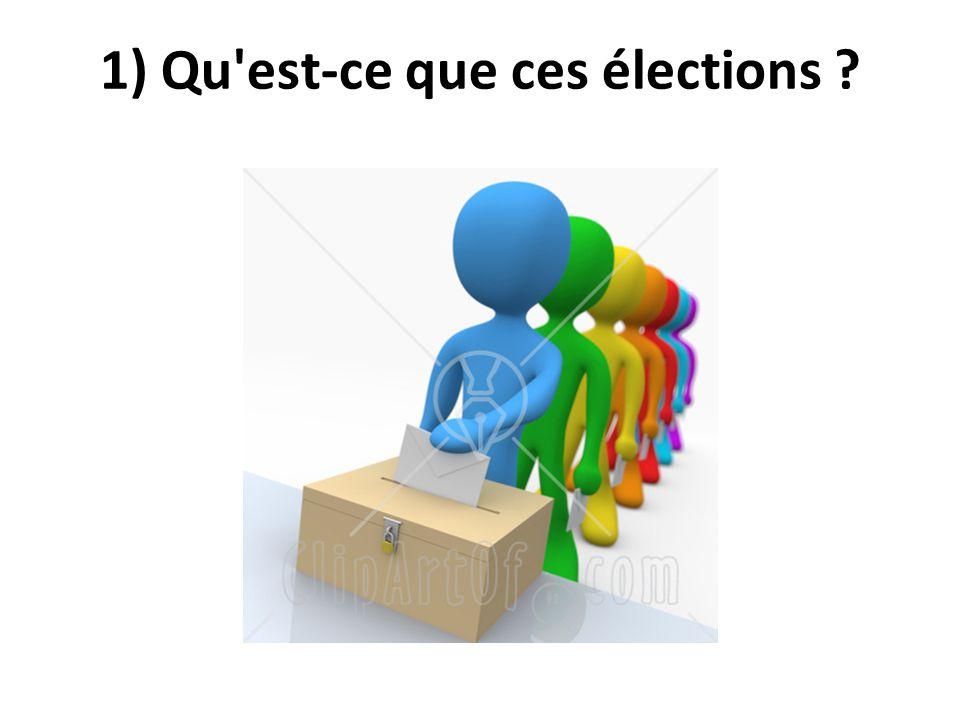1) Qu'est-ce que ces élections ?