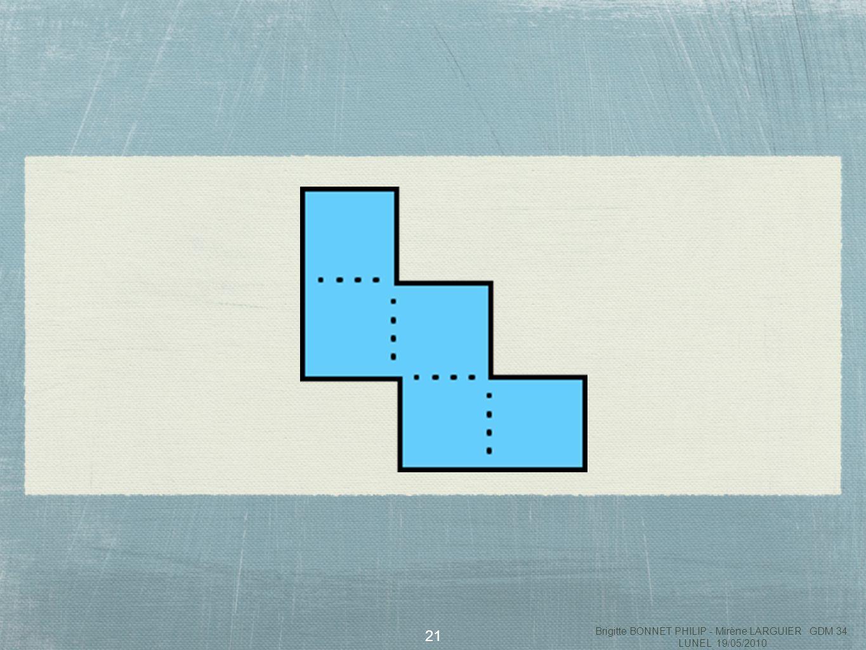 22 Les objectifs Identifier des figures qui ont ou nont pas la même forme et qui sont donc superposables ou non ( géométrie du papier calque ) Classer en fonction de la présence ou non daxes de symétrie Classer en fonction du périmètre (12 ou 10 unités, lunité étant la longueur dun côté du carré) Identifier des sous-figures comme des carrés et des rectangles* Utiliser les pentaminos pour réaliser des assemblages et former des figures particulières ( comme des carrés, des rectangles...) Brigitte BONNET PHILIP - Mirène LARGUIER GDM 34 LUNEL 19/05/2010
