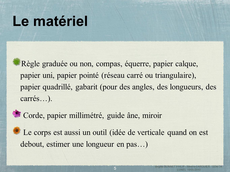 6 Le rapporteur est un instrument découvert au collège Brigitte BONNET PHILIP - Mirène LARGUIER GDM 34 LUNEL 19/05/2010